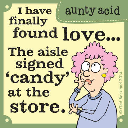 I have finally found love... The aisle signed candy at the store.