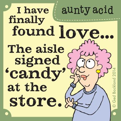 Aunty Acid for Feb 15, 2014 Comic Strip