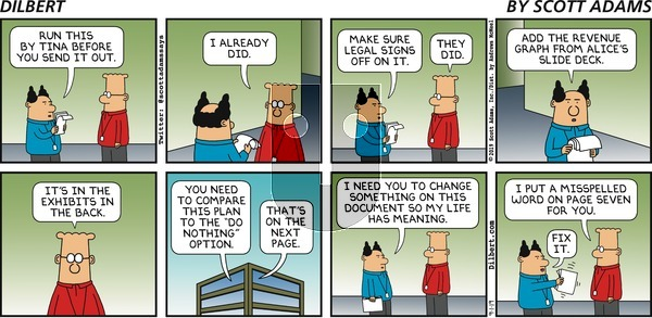 Dilbert on Sunday September 1, 2019 Comic Strip