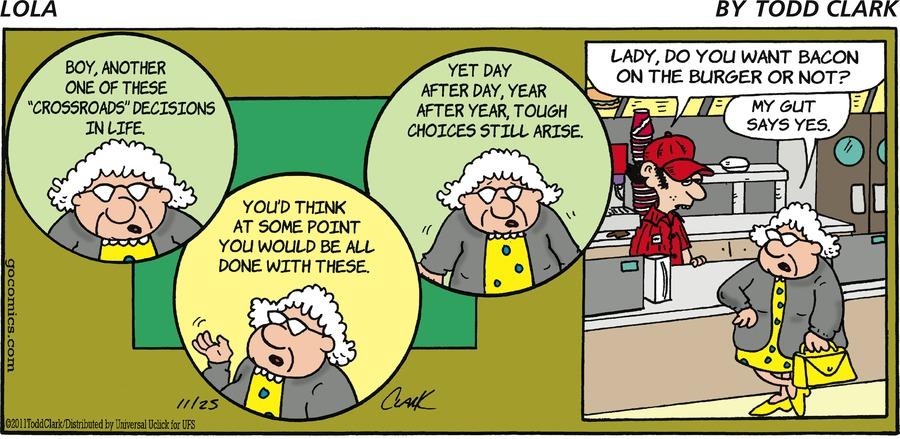 Lola for Nov 25, 2012 Comic Strip