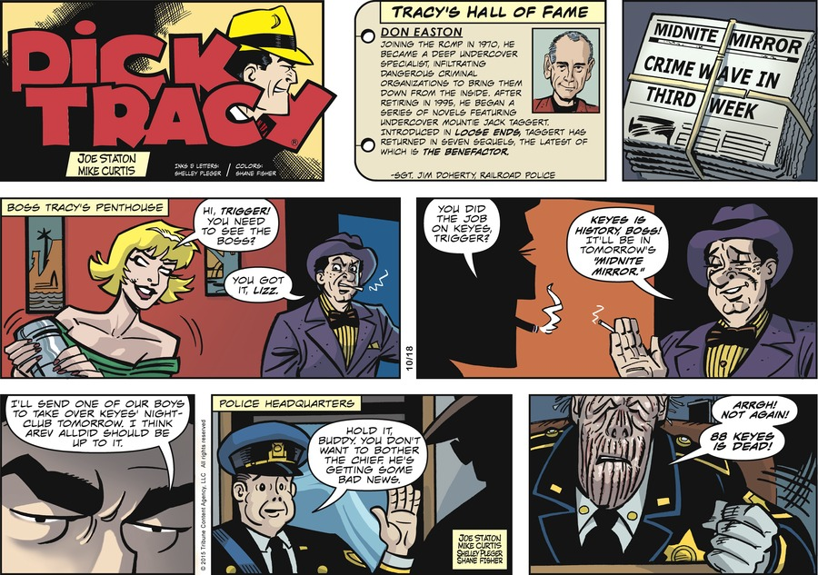 Dick Tracy for Oct 18, 2015 Comic Strip