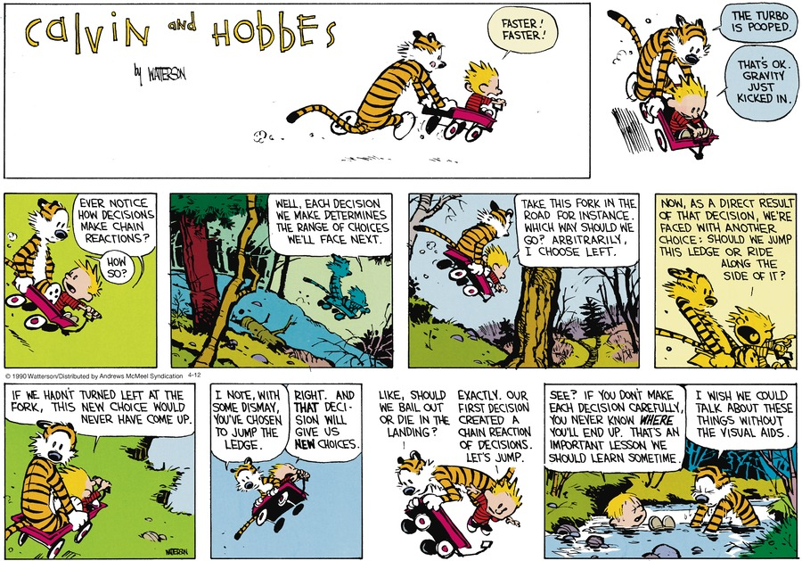 Calvin and Hobbes Comic Strip for April 12, 2020