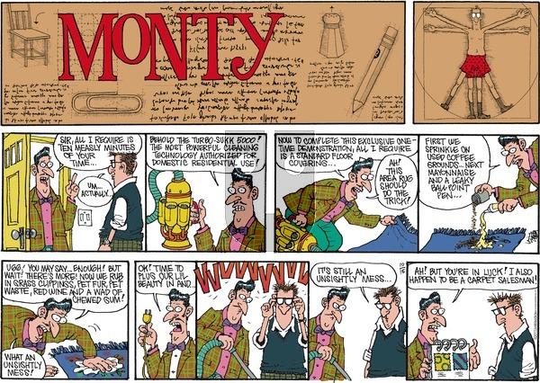 Monty on Sunday October 15, 2017 Comic Strip