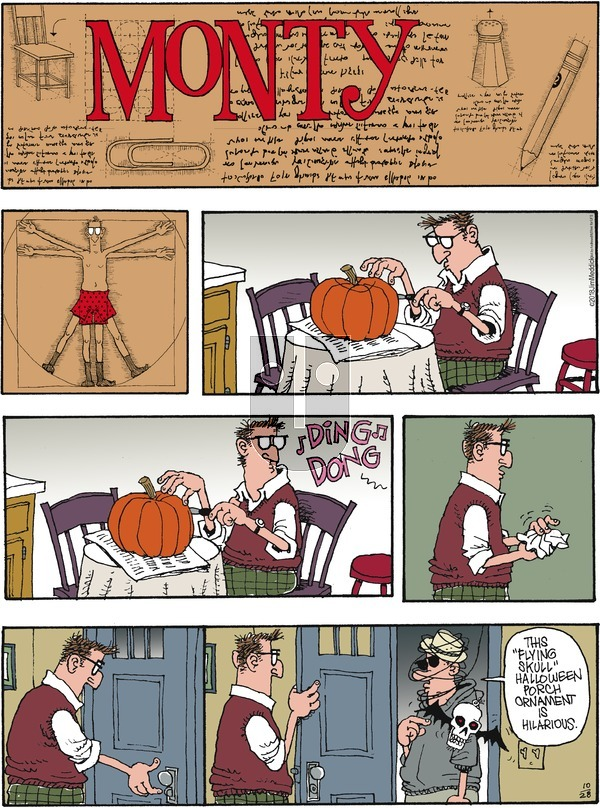 Monty on Sunday October 28, 2018 Comic Strip