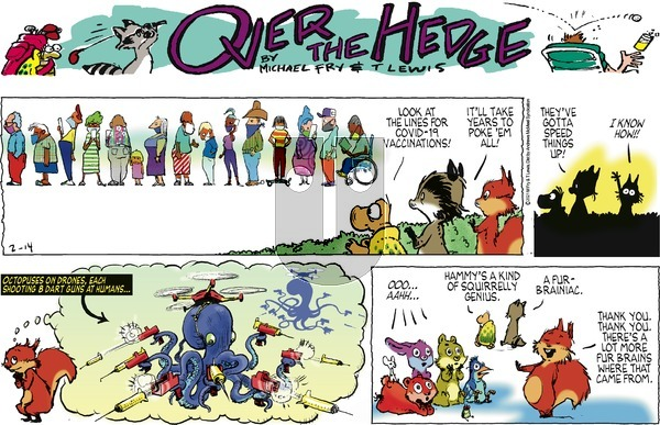 Over the Hedge on Sunday February 14, 2021 Comic Strip