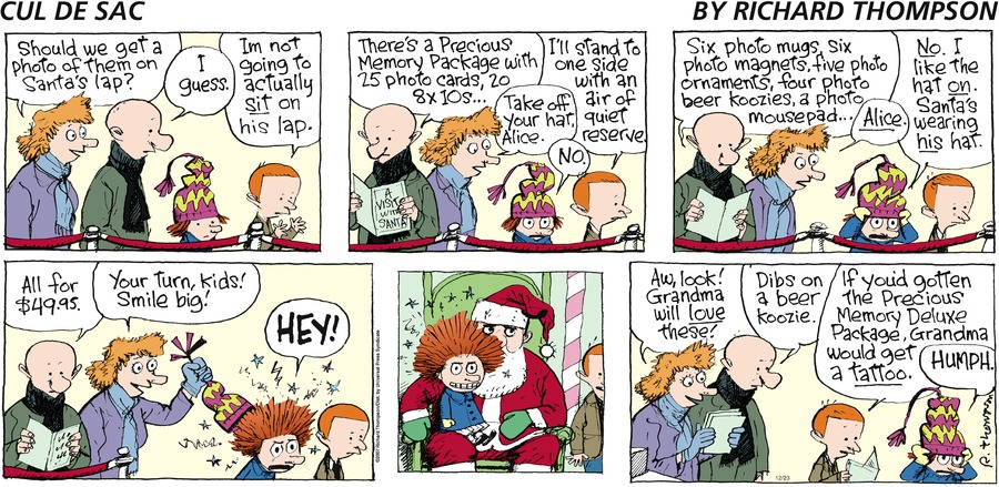 Cul de Sac for Dec 23, 2007 Comic Strip