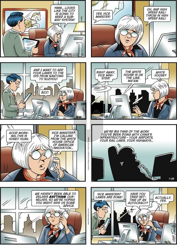 Doonesbury on Sunday January 28, 2018 Comic Strip