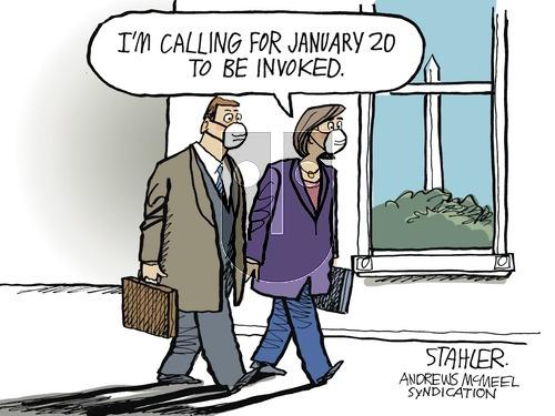 Jeff Stahler on Sunday January 10, 2021 Comic Strip