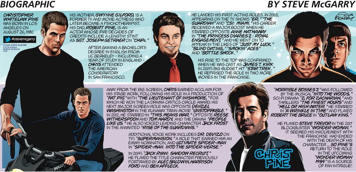 Biographic Comic Strip for November 29, 2020