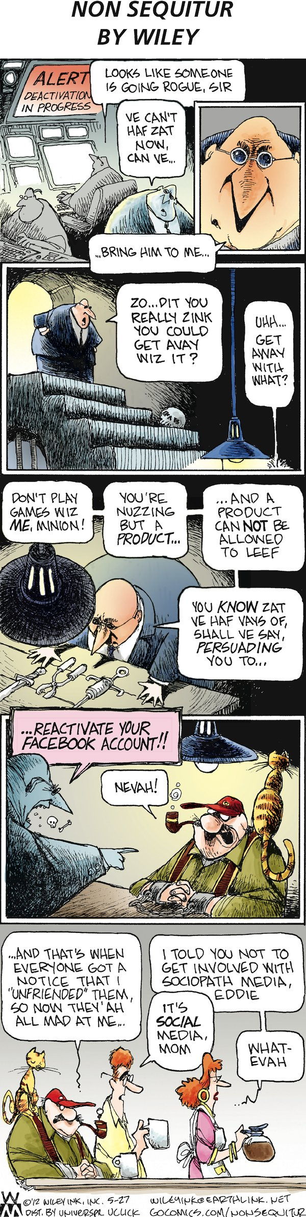 Non Sequitur Comic Strip for May 27, 2012