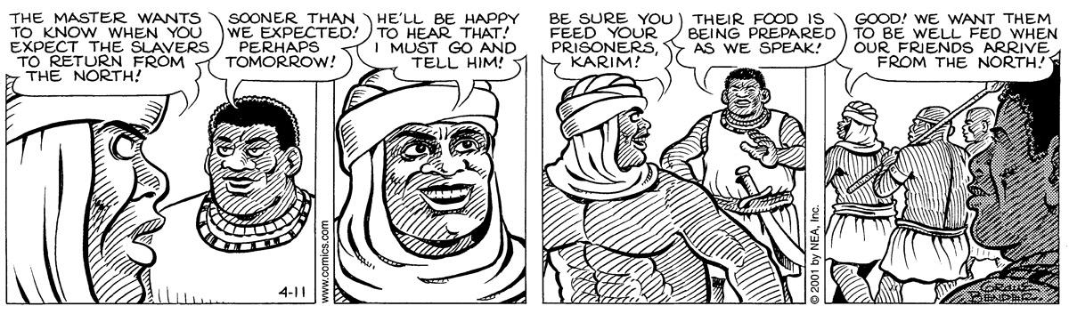 Alley Oop for Apr 11, 2001 Comic Strip
