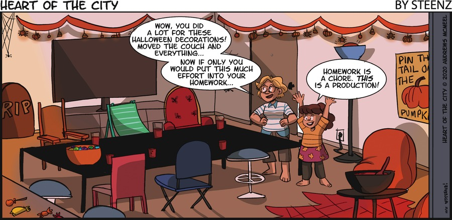 Heart of the City Comic Strip for October 18, 2020