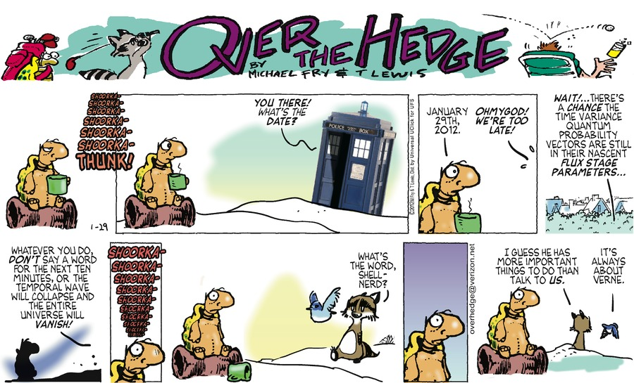 Over the Hedge Comic Strip for January 29, 2012