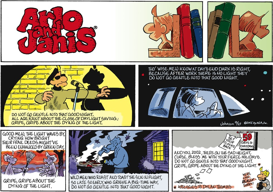 Arlo and Janis Comic Strip for October 27, 2002