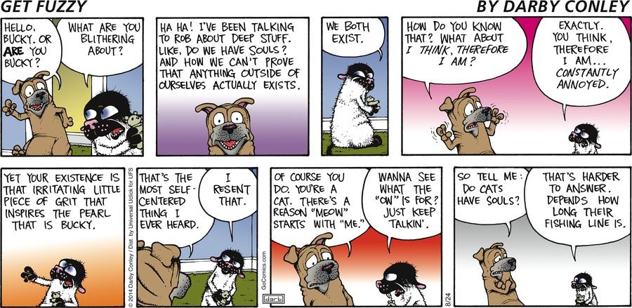 Get Fuzzy Comic Strip for August 24, 2014