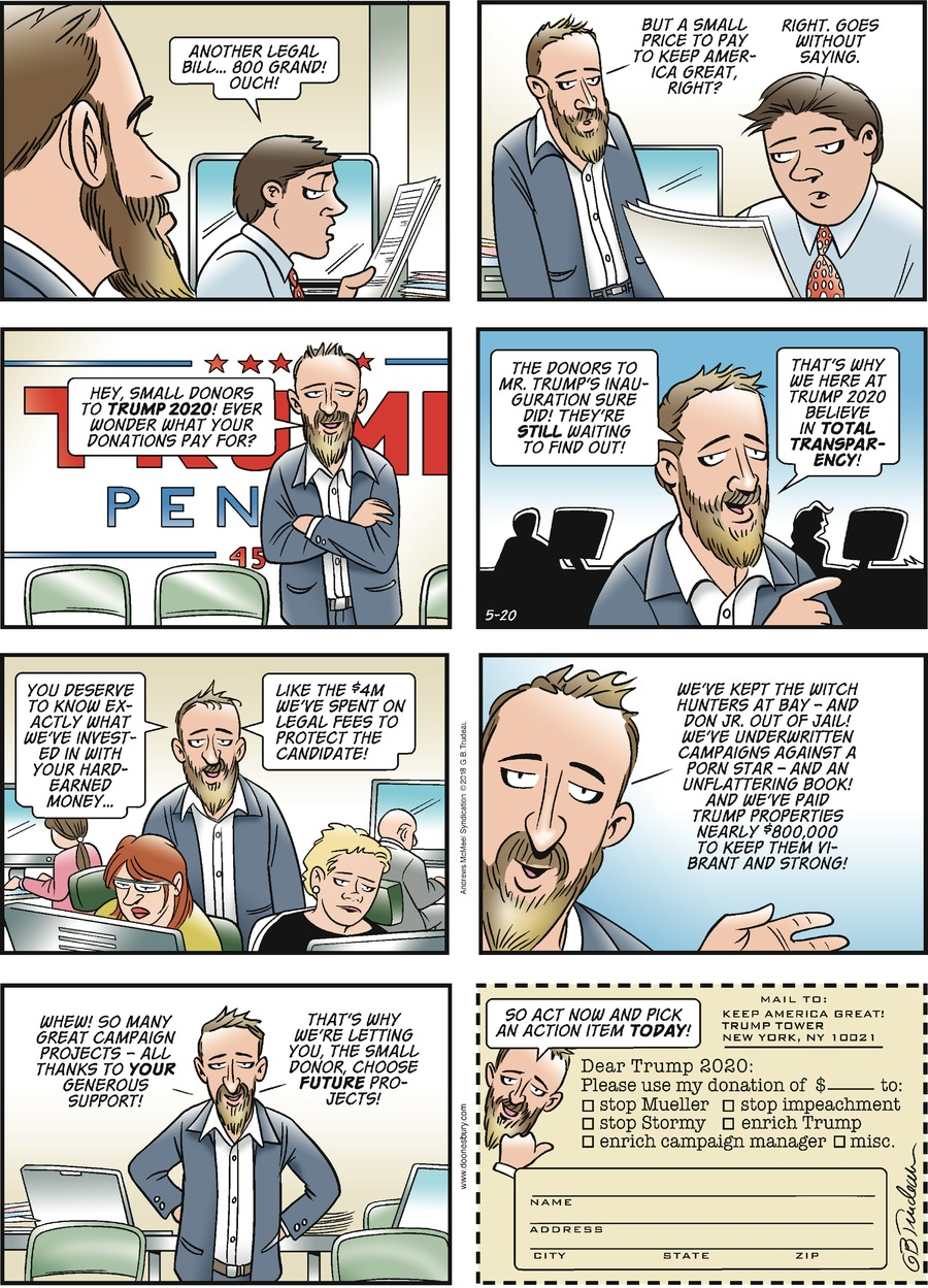 Doonesbury Comic Strip for May 20, 2018