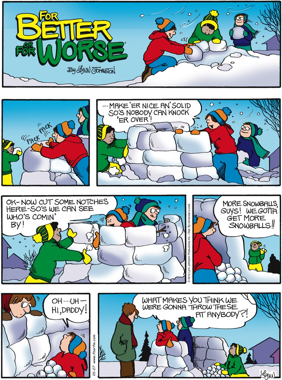 For Better or For Worse for Jan 27, 2013 Comic Strip