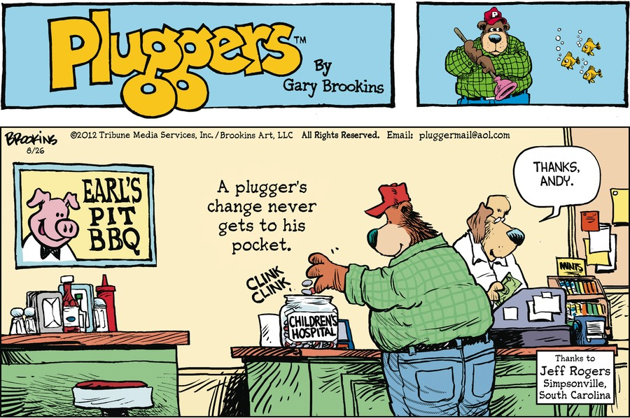 Pluggers for Aug 26, 2012 Comic Strip