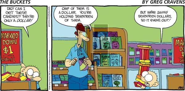 The Buckets on Sunday July 1, 2018 Comic Strip