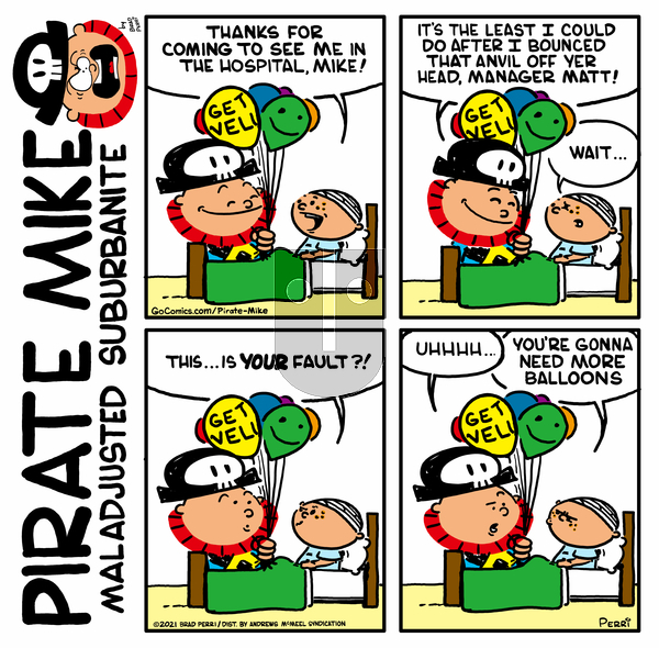 Pirate Mike on Friday May 7, 2021 Comic Strip