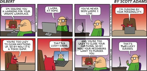 Dilbert on Sunday May 16, 2021 Comic Strip