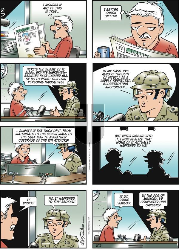 Doonesbury on Sunday March 15, 2015 Comic Strip