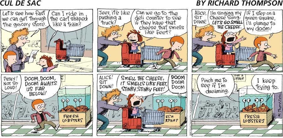 Cul de Sac for Apr 21, 2013 Comic Strip