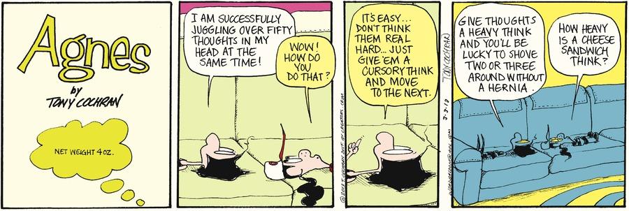 Agnes for Mar 3, 2013 Comic Strip