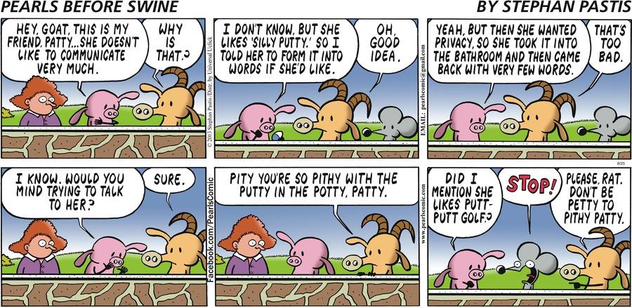Pearls Before Swine for Aug 25, 2013 Comic Strip