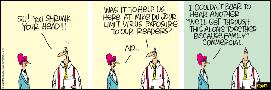 Mike du Jour Comic Strip for May 22, 2020