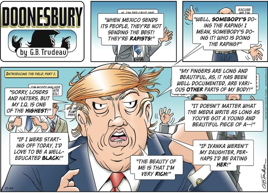 Doonesbury Comic Strip for October 04, 2015