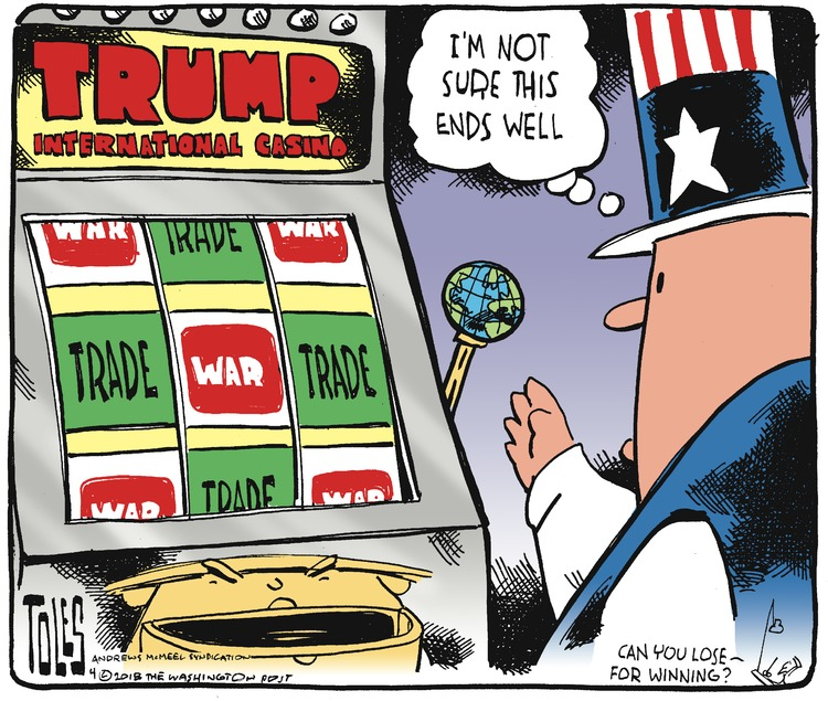 Tom Toles for Apr 8, 2018 Comic Strip