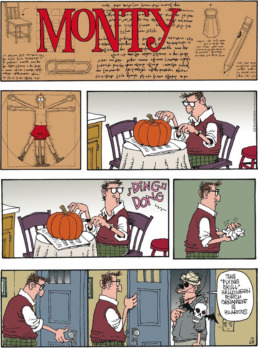 Monty Comic Strip for October 28, 2018