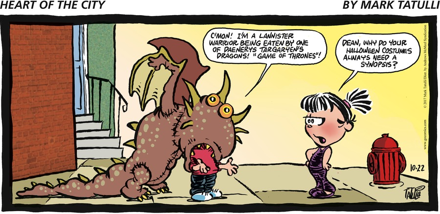 Heart of the City for Oct 22, 2017 Comic Strip
