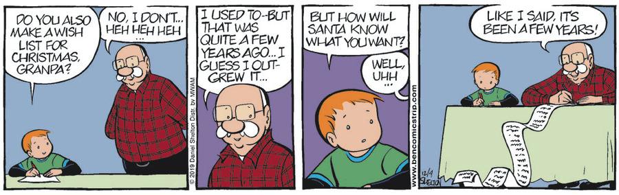 Ben Comic Strip for December 04, 2019