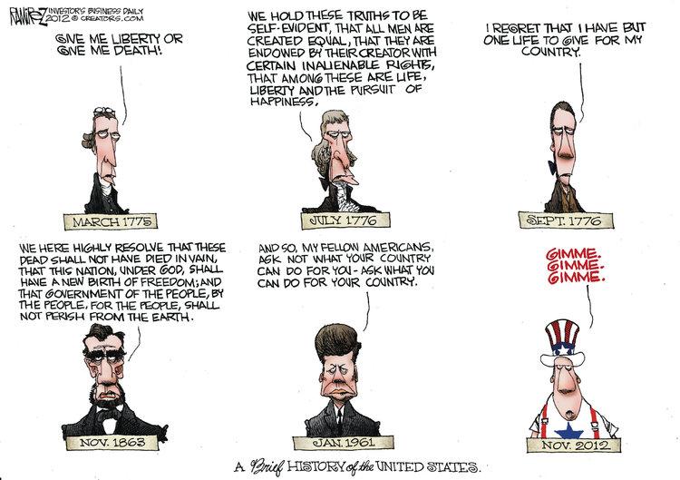 Michael Ramirez Comic Strip for November 25, 2012
