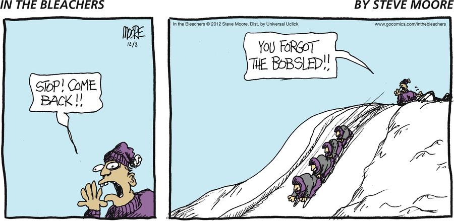 In the Bleachers for Dec 2, 2012 Comic Strip