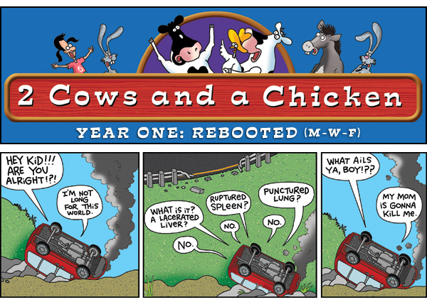 2 Cows and a Chicken for Jun 12, 2013 Comic Strip