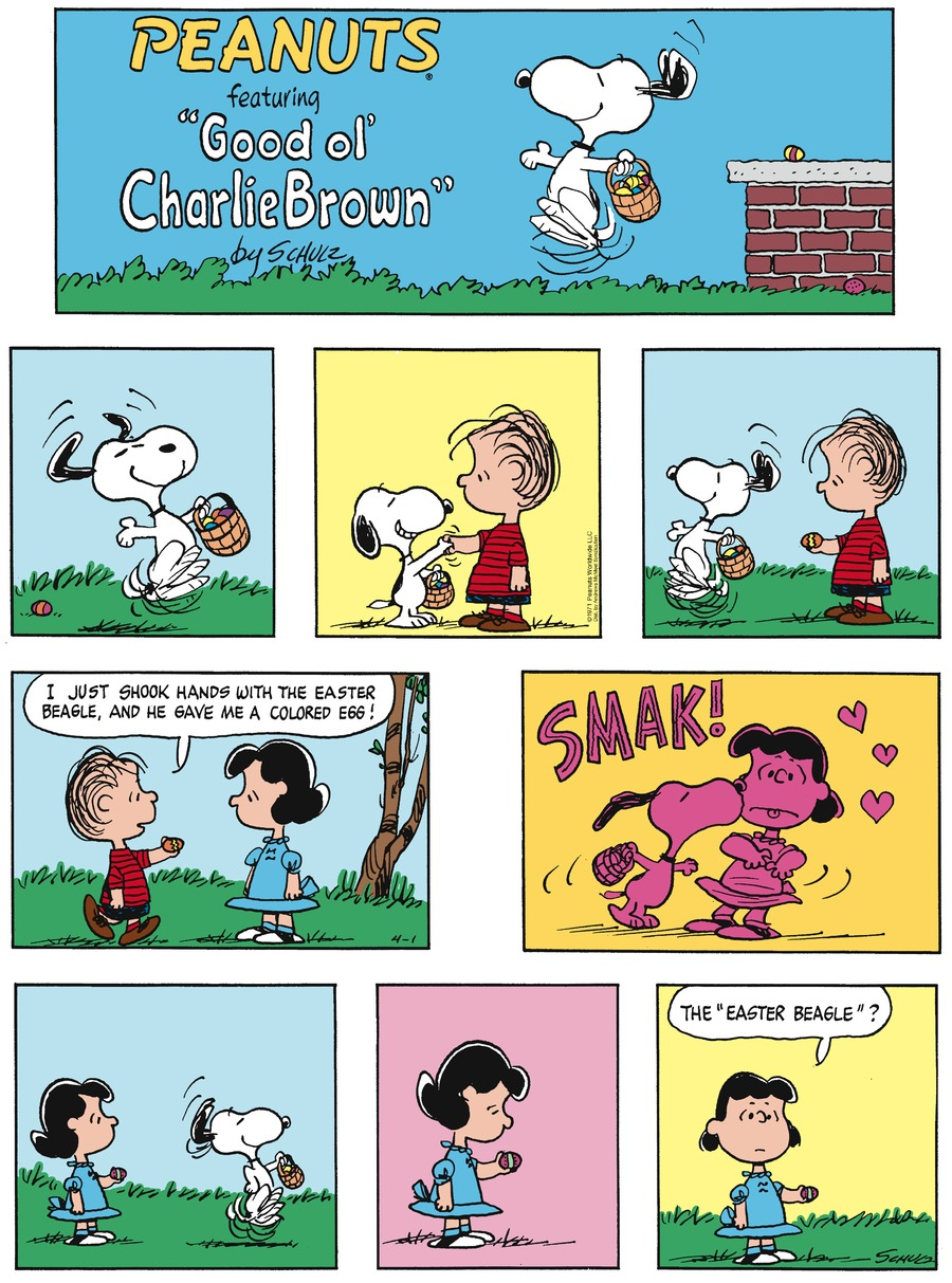 Peanuts Comic Strip for April 01, 2018