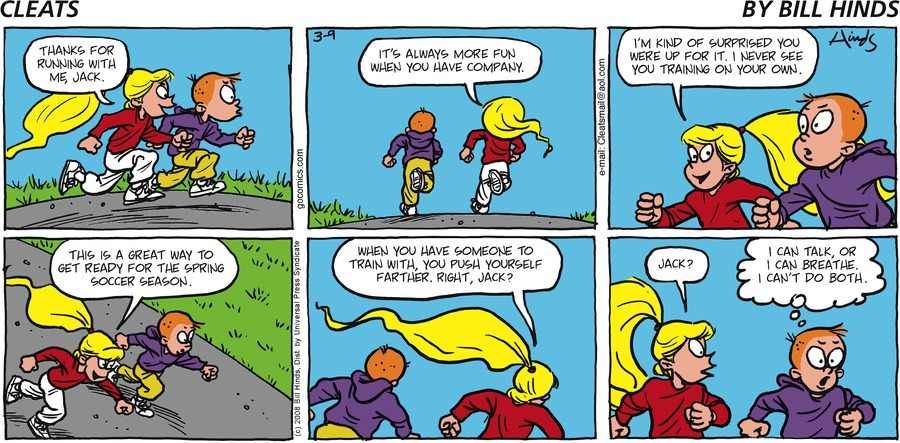 Cleats Comic Strip for March 09, 2008