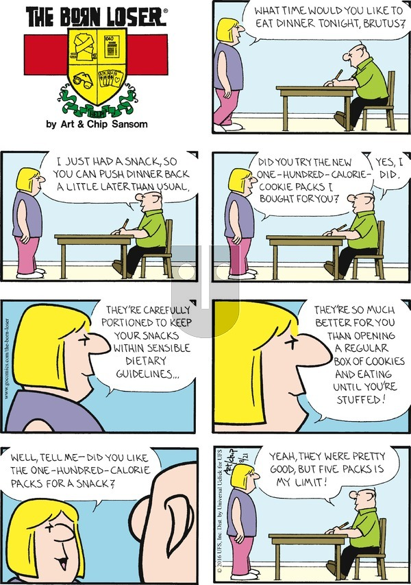 The Born Loser on August 21, 2016 Comic Strip