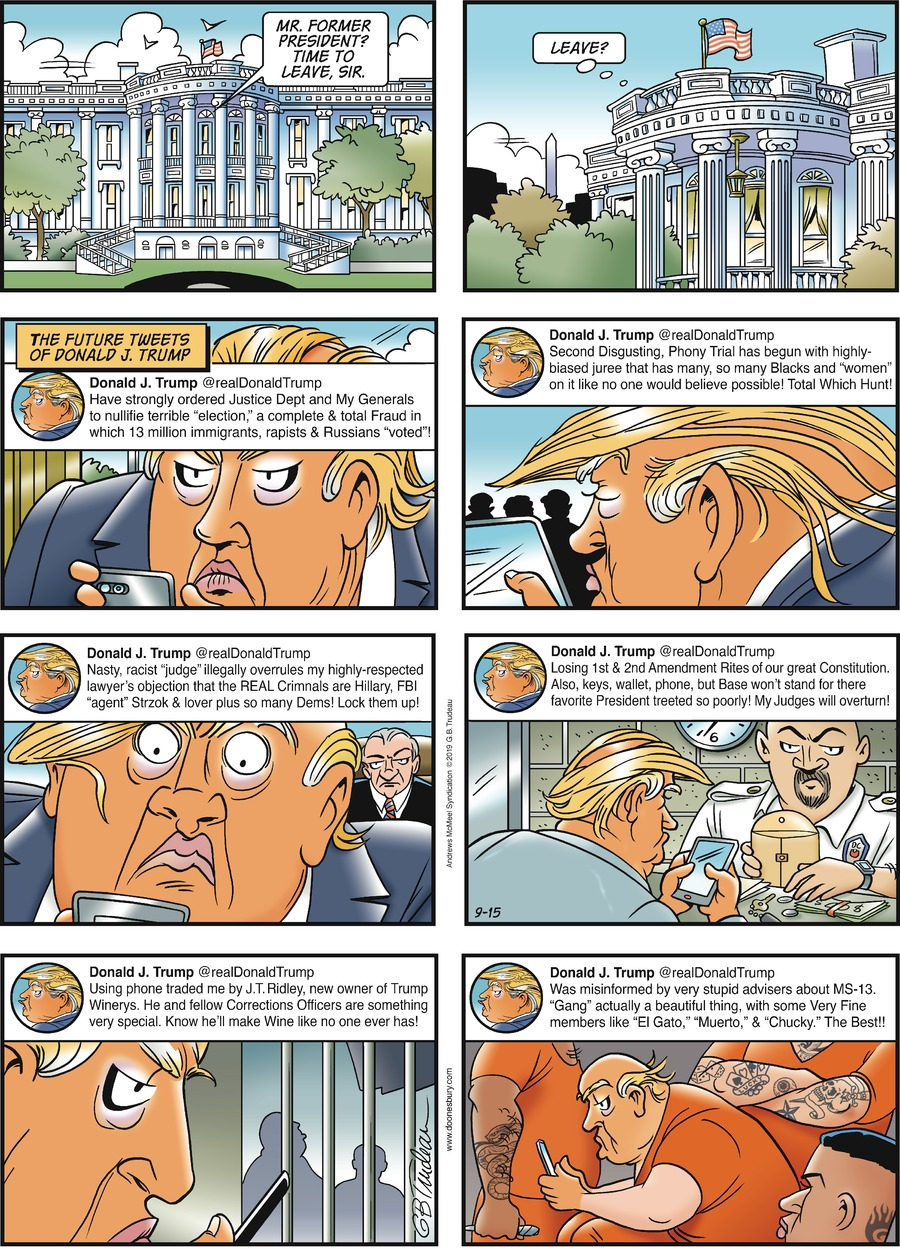 Doonesbury Comic Strip for September 15, 2019