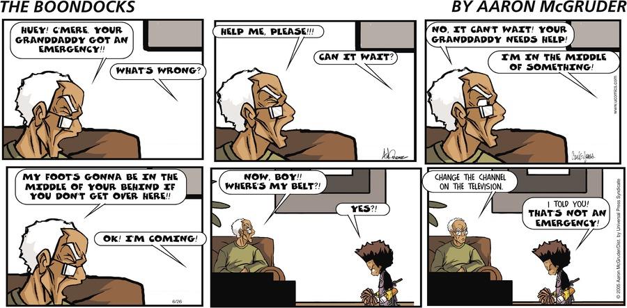 The Boondocks for Jun 26, 2005 Comic Strip