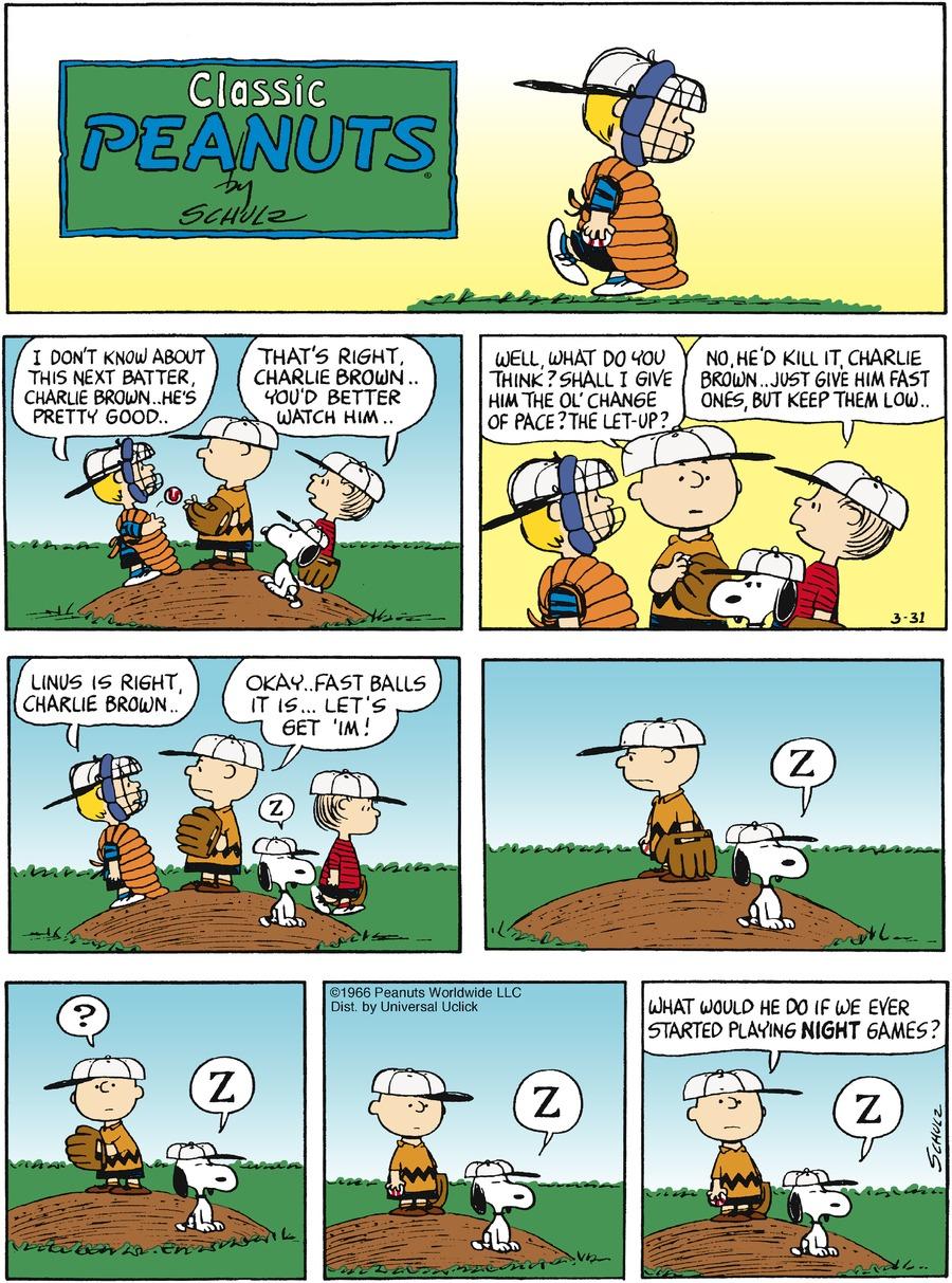 Peanuts for Mar 31, 2013 Comic Strip