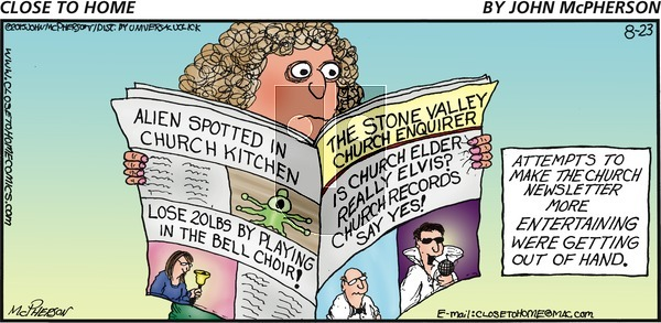 Close to Home on Sunday August 23, 2015 Comic Strip