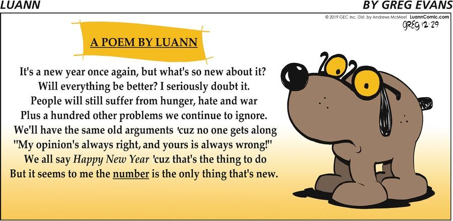 Luann Comic Strip for December 29, 2019