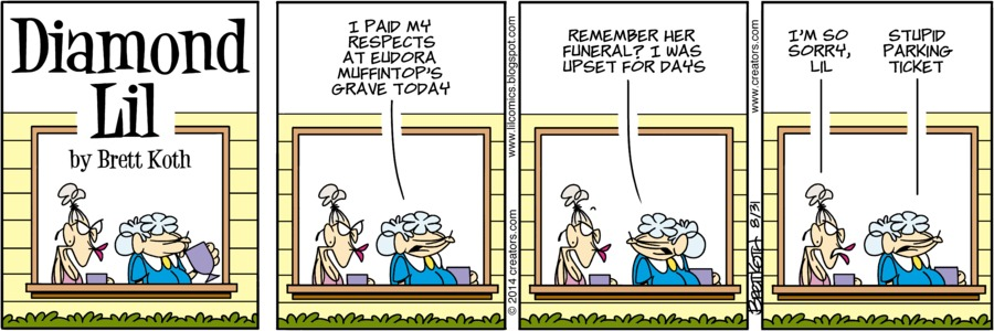 Diamond Lil for Aug 31, 2014 Comic Strip