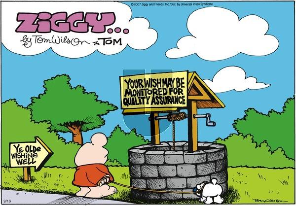 Ziggy on Sunday September 16, 2007 Comic Strip