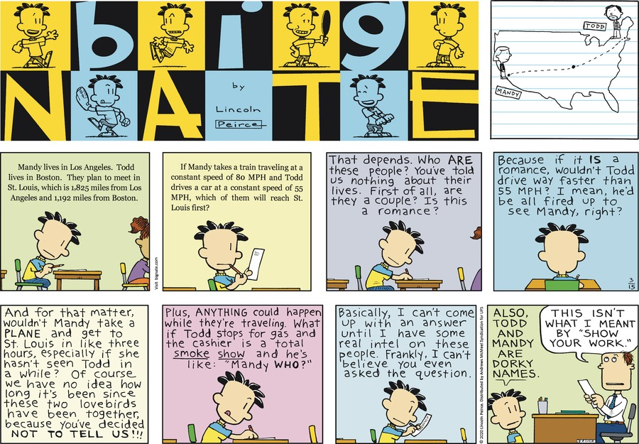 Big Nate Comic Strip for March 15, 2020