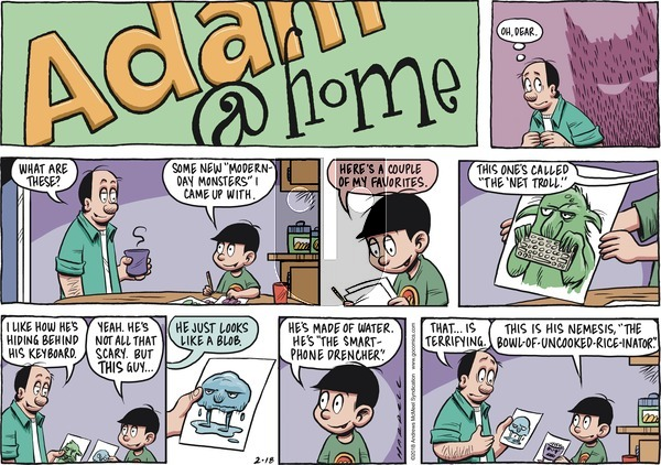 Adam@Home on Sunday February 18, 2018 Comic Strip